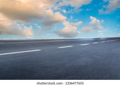 Road surface and sky cloud landscape
