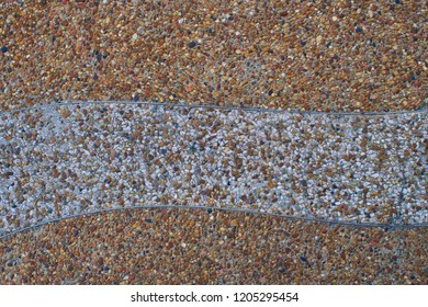 The road texture of gravel in beton