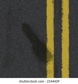 Road texture with rubber skid marks