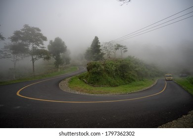 A road that has a sharp bend