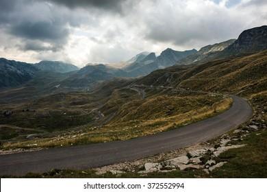 A road through Durmitor mountains