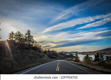 Road through the Foothills at Horsetooth Reservoir, Fort Collins, Colorado