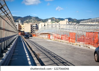 The Road through an industrial area of Messina, Sicily, Messina