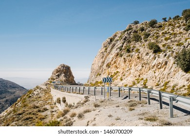 road through the Spanish Sierra Nevada in Andalusia
