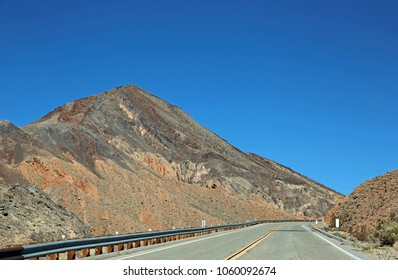Road through Towne Pass - Death Valley National Park, Mojave Desert, California
