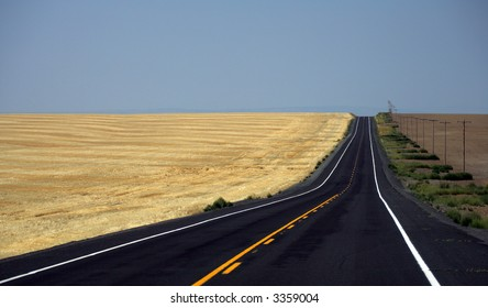Road through wheat fields of Washington