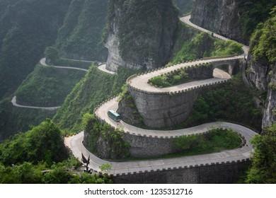 road to Tianmen Mountain