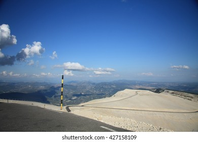Road to the top of the mont ventoux, France