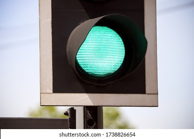 Road Traffic Light Green Colour