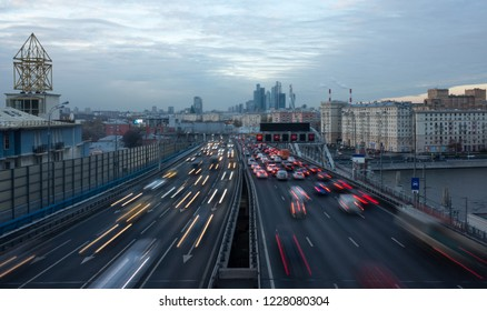 Road traffic on the third ring road in Moscow