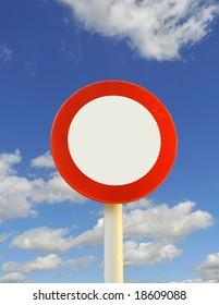 road / traffic sign