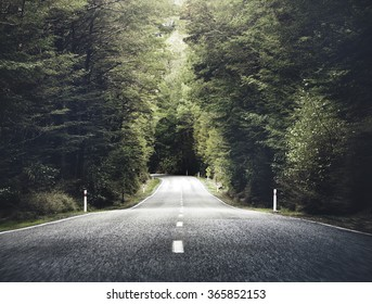 Road Travel Journey Nature Scenic Concept