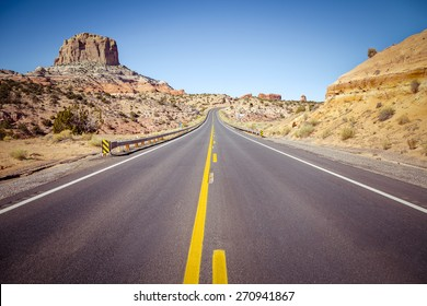 Road trip in Arizona desert, USA