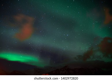 Road trip in icelnd. Northern Lights.