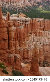 Road trip through USA West Glen close up of white red stone colums in Utah