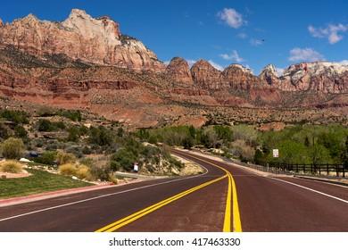 Road trip through Zion National Park, Utah, USA