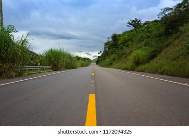 road trip. traditional tropical road Brasilia, Brazil