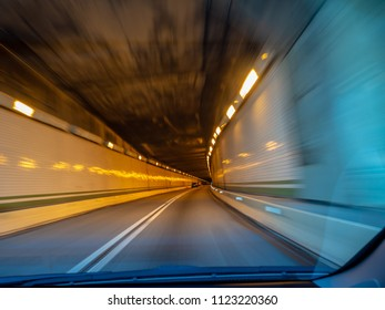 Road tunnel speed highway