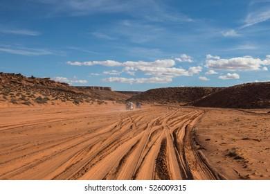 Road to Upper Antelope Canyon, Antelope Canyon, Arizona, USA