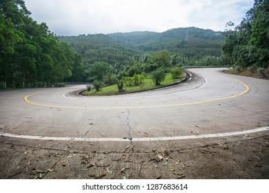road u-shaped bending