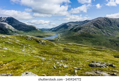 Road in a valley, Troms Norway
