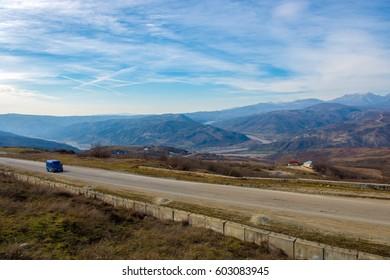 Road view in Azerbaijan