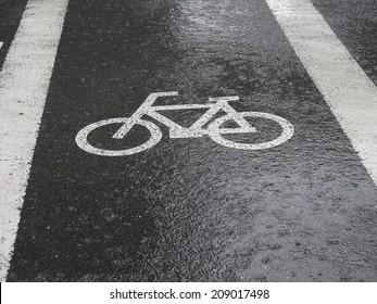 Road wet in the Rain