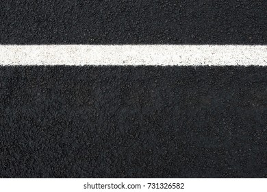 road and white road marking (horizontal) with text space seen from above.
