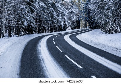 Road winter