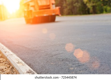 Road works, construction and repair of roads, asphalt paving asphalt pavers, smooth smooth pavement