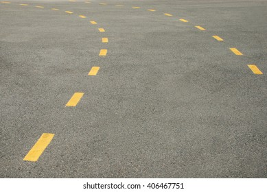 Road with yellow line