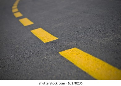 Road with yellow lines