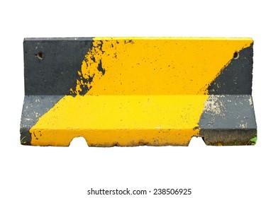 roadblock isolated on white