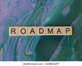 Roadmap alphabet blue and purple abstract  background