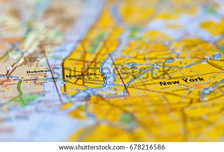 Road Map Of Manhattan.Roadmap Manhattan New York Stock Photo Edit Now 678216586