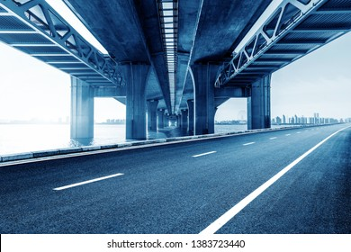 Roads and bridges, three-dimensional traffic in modern cities.