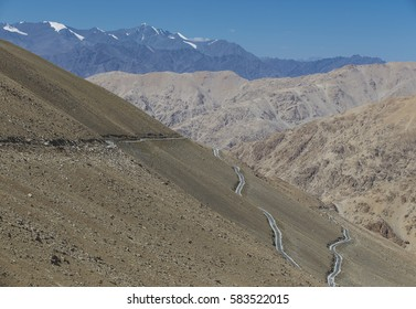 The roads of Ladakh are as mystifying as the place itself.They lead from one place to another in amazing zigzags through the valleys and mountains cutting across the religion like a snake.