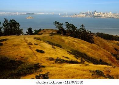 Roads near the Golden Gate Bridge, The Presidio, San Francisco, California, USA