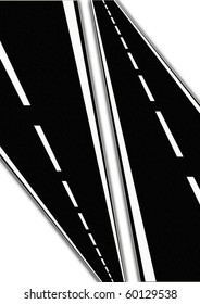 Roads on white background