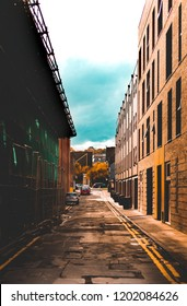 Roads parked down a  back alley in Sheffield, UK