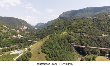 roads with tunnels and bridges