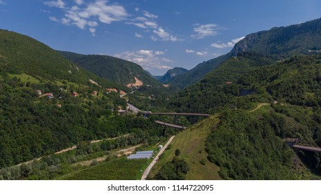 roads and tunnels from countryside