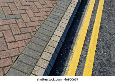 Roadside block paving