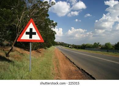 Roadside crossing sign