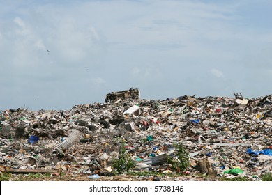 A roadside dump is a common site in Central America. This one is just outside of Belize City.