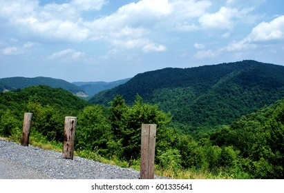 Roadside stop on Route 19 north in the heart of coal country, West Virginia, surrounded by the Allegheny mountain range of the Appalachians.