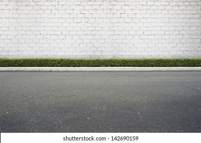 Roadside street view  background