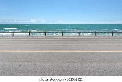 Roadside view and beach background
