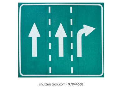 roadsign isolated on a white background