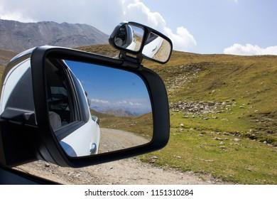 Roadtrip at Col du Parpaillon, Alpine pass France
